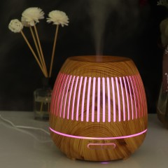 400ml Aromatherapy Essential Oil Diffuser 12 Hours Wood Grain Aroma Diffuser with Timer Cool Mist Humidifier for Large Room