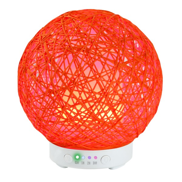 120ml Rattan Ball Shaped Ultrasonic Aroma Diffuer Cool Mist Humidifier with Beautiful Night Lights