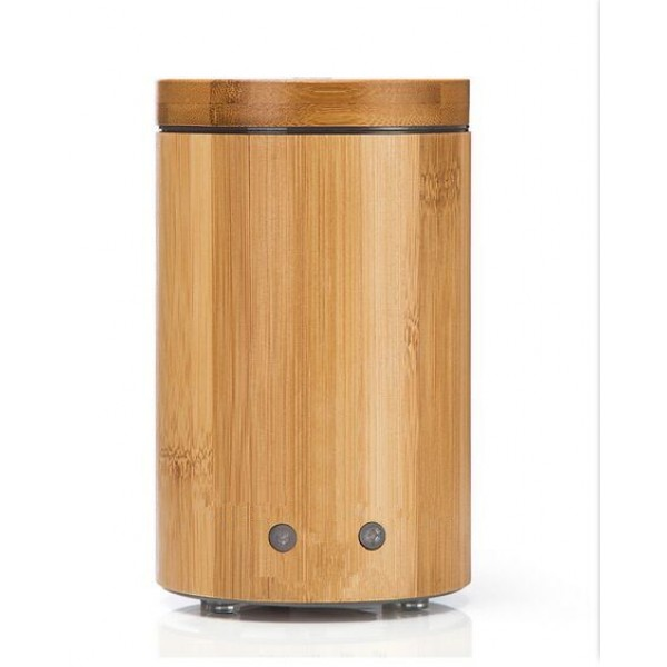 160ml Bamboo Aroma Diffuser Cool Mist Humidifier with Colorful Lights for Home/ Office/ Yoga