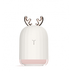 220ml Deer Rabbit Cartoon Cute Design Mini Electric Humidifier USB Car Air Purifier with Night Light Beautiful Lamp